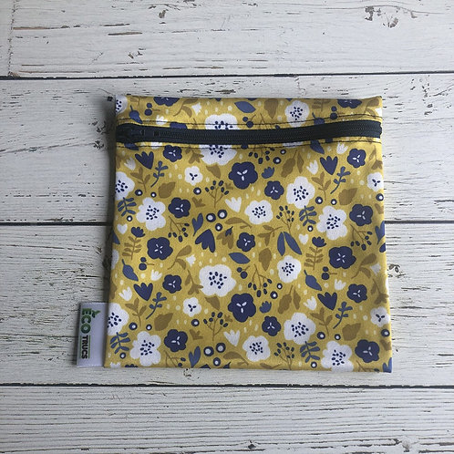 Reusable Sandwich Bag - Flowers (Recycled Water Bottles)