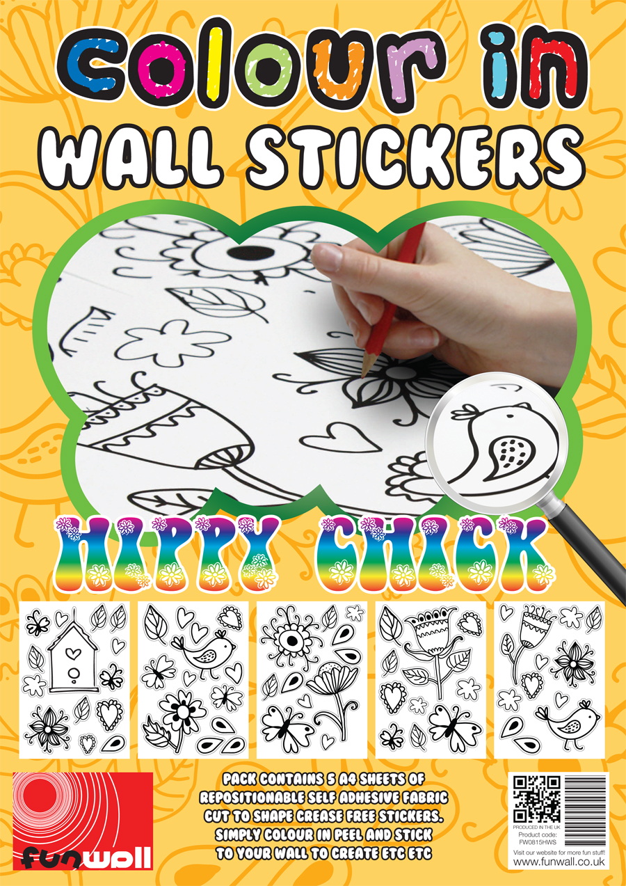 colour in wall stickers