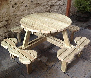 Circular Picnic Table