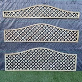150/300/150 x 1828mm Diamond Trellis Wave Top