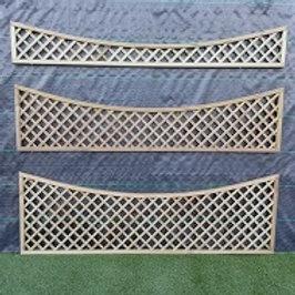 450/300/450 x 1828mm Diamond Trellis Concave Top