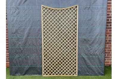 1800/1700/1800 x 900mm Diamond Trellis Concave Top