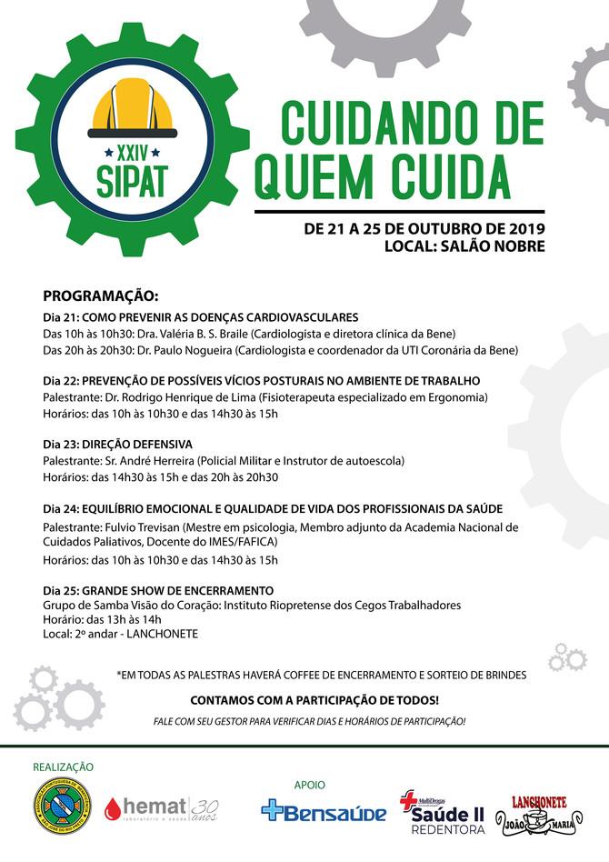 Saúde física e mental é destaque na Sipat da Bene Rio Preto