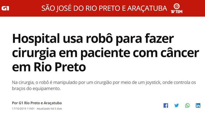 Cirurgia Robótica na Bene Rio Preto é destaque nas mídias de Rio Preto e região