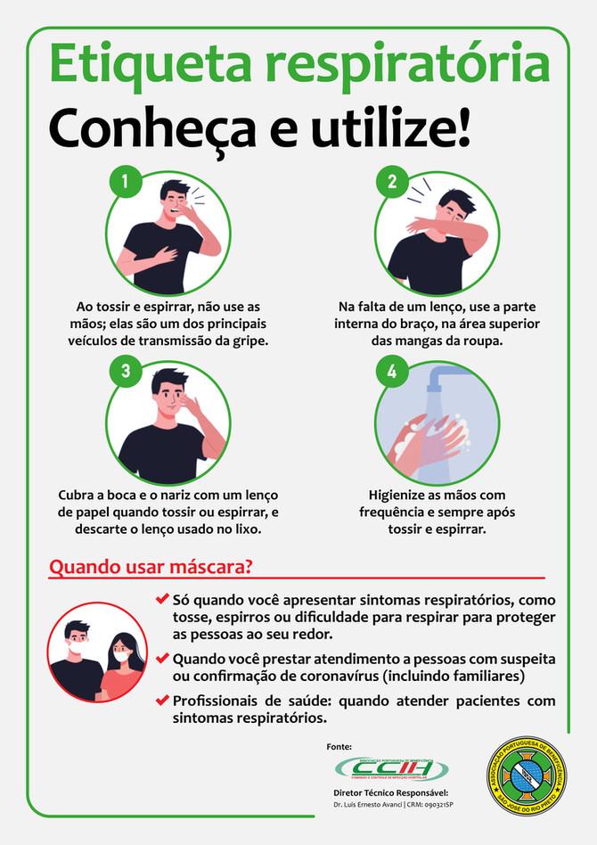Bene Rio Preto contra o coronavírus: saiba tudo sobre a etiqueta respiratória
