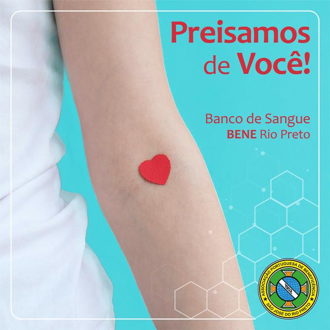 O Banco de Sangue da Bene Rio Preto precisa de VOCÊ!
