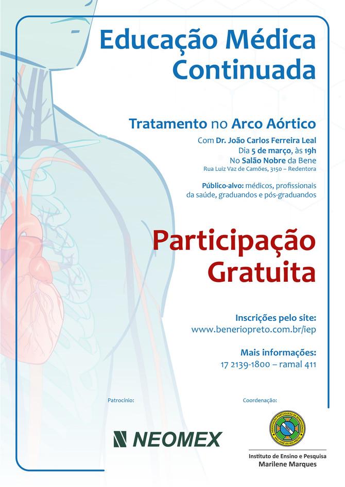 Bene Rio Preto realiza curso gratuito de Tratamento no Arco Aórtico