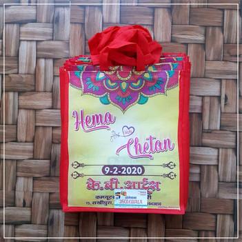 Laminated Non Woven Wedding Gift Bag