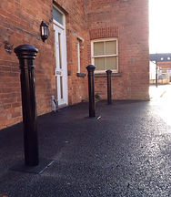 Orante bollards to protecting the houses