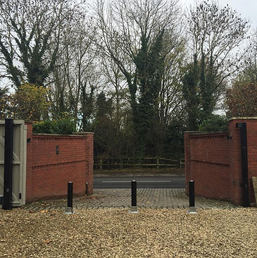 added layer of seurity behind the gates