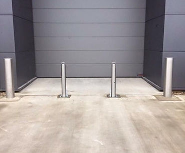 Stainless anti-ram bollards