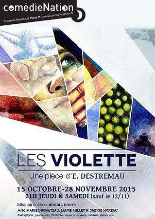 """Affice """"Les Violette"""""""