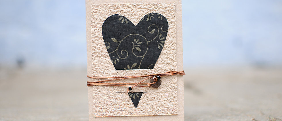 Brown Journal with heart