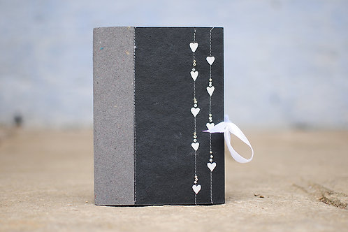 3240 - Journal with small Paper Hearts