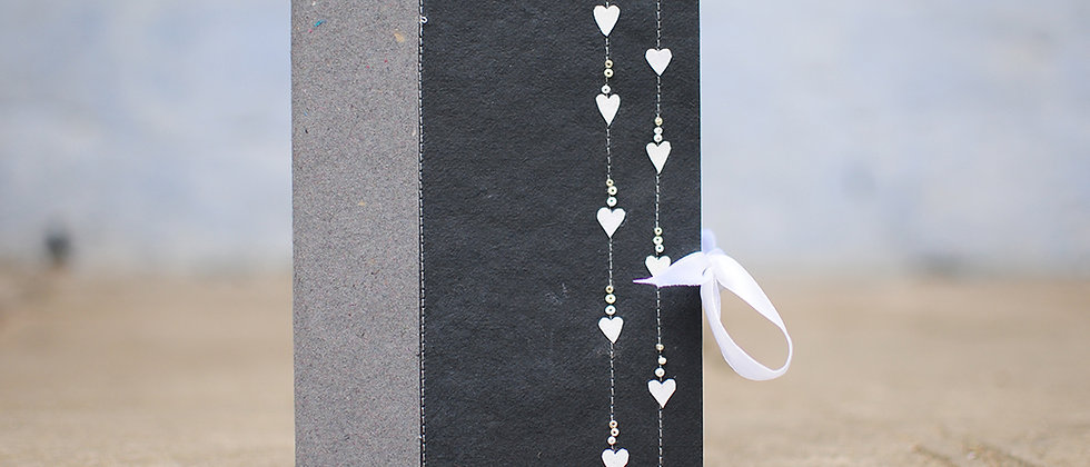 Journal with small Paper Hearts