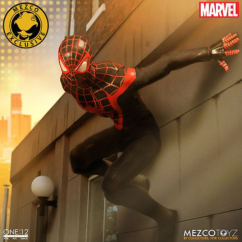 MEZCO TOYZ ONE:12 MILES MORALES SPIDER-MAN EXCLUSIVE ACTION FIGURE