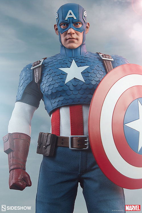SIDESHOW COLLECTIBLES MARVEL COMICS CAPTAIN AMERICA