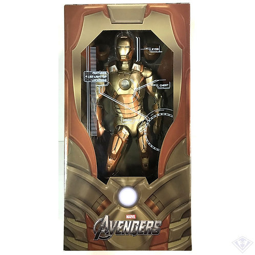 "NECA MARVEL IRON MAN 1/4 SCALE 18"" IRON MAN MARK XXI MIDAS"