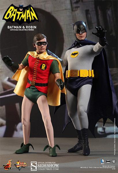 HOT TOYS BATMAN 1966 CLASSIC TV BATMAN AND ROBIN SET