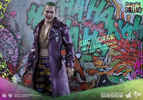 HOT TOYS DC COMICS SUICIDE SQUAD JOKER PURPLE COAT EXCLUSIVE