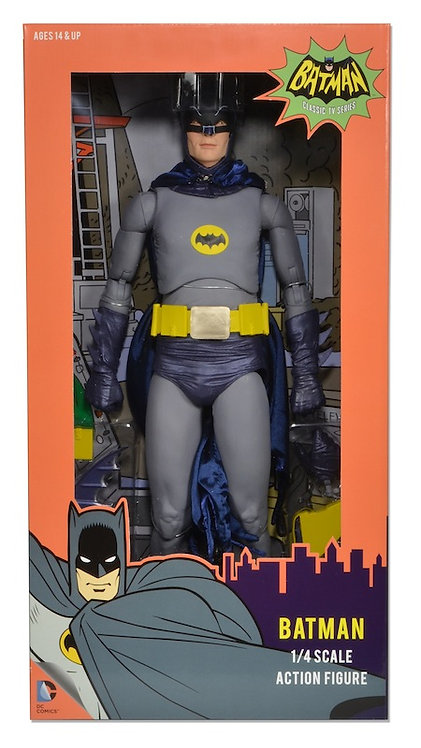 """NECA BATMAN 1966 1/4 SCALE 18"""" BATMAN"""