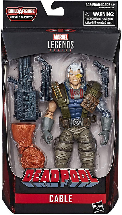 MARVEL LEGENDS DEADPOOL SERIES SASQUATCH CABLE