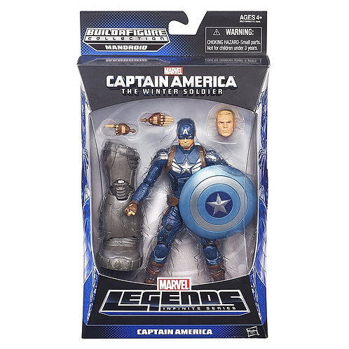 MARVEL LEGENDS CAPTAIN AMERICA MANDROID SERIES CAPTAIN AMERICA STEALTH STRIKE