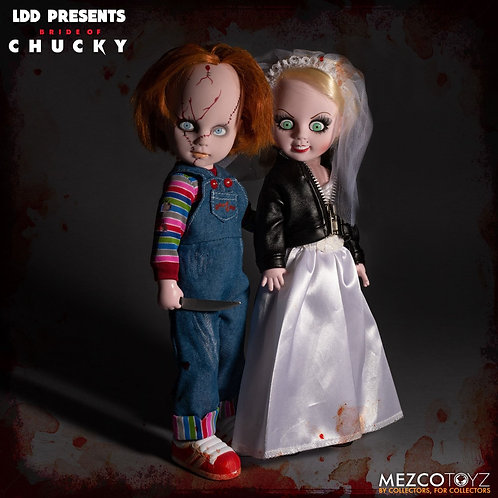 MEZCO TOYZ LIVING DEAD DOLLS CHUCKY AND TIFFANY BOX SET