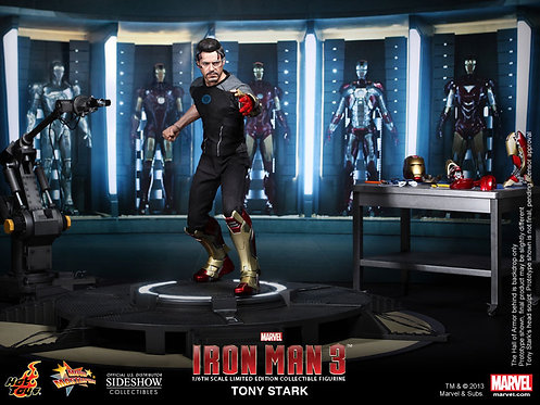 HOT TOYS IRON MAN 3 TONY STARK WORKSHOP