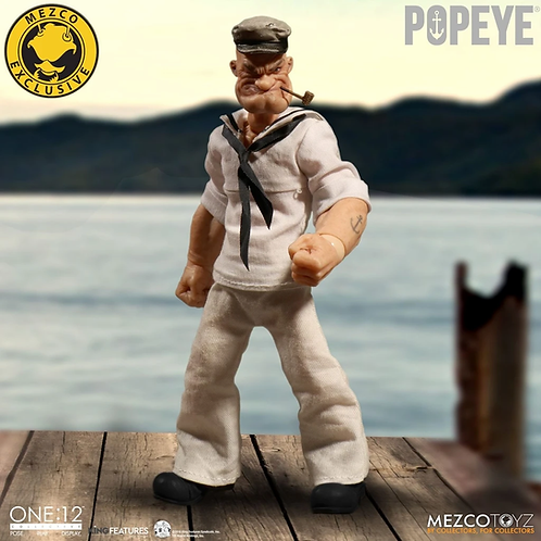 MEZCO TOYZ ONE:12 POPEYE MEZCO DIRECT EXCLUSIVE WHITE OUTFIT