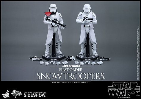HOT TOYS STAR WARS THE FORCE AWAKENS FIRST ORDER SNOWTROOPER OFFICER SET