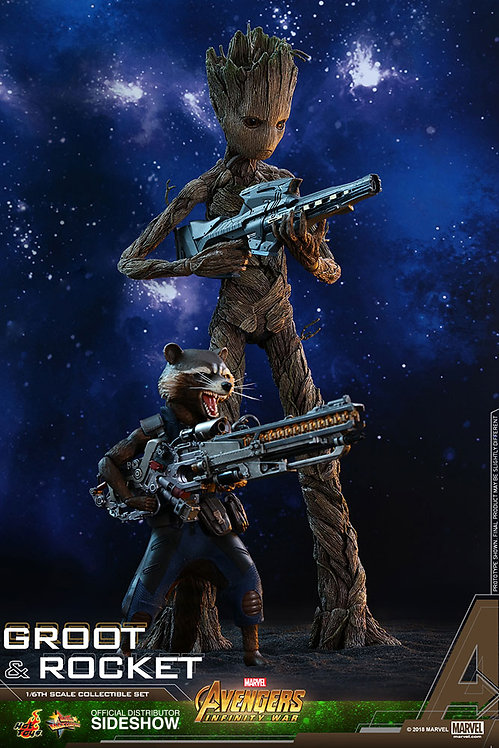 HOT TOYS AVENGERS INFINITY WAR ROCKET AND GROOT