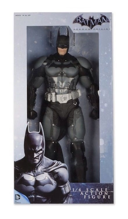 "NECA BATMAN ARKHAM ORIGINS VIDEO GAME 1/4 SCALE 18"" BATMAN"
