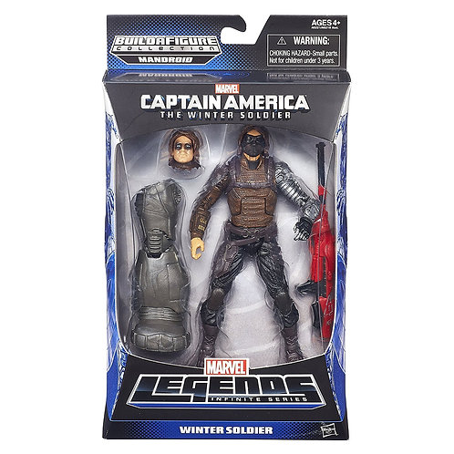 MARVEL LEGENDS CAPTAIN AMERICA MANDROID SERIES WINTER SOLDIER