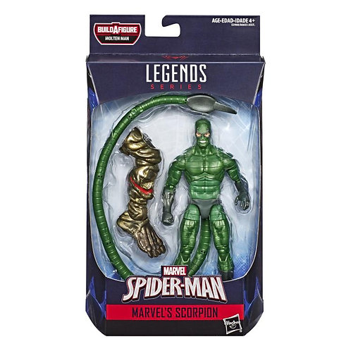 MARVEL LEGENDS SPIDER-MAN FFH SERIES MOLTEN MAN SCORPION