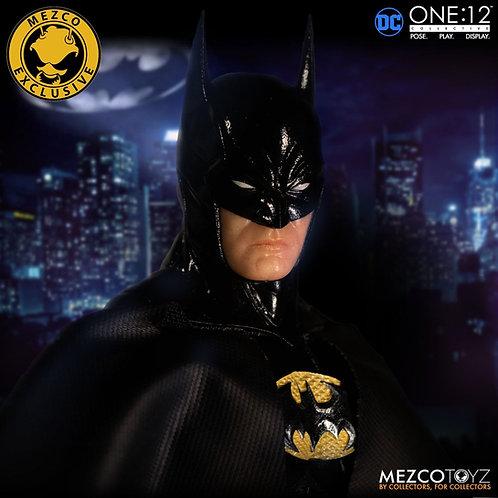 MEZCO TOYZ ONE:12 DC BATMAN: SOVEREIGN KNIGHT ONYX EXCLUSIVE