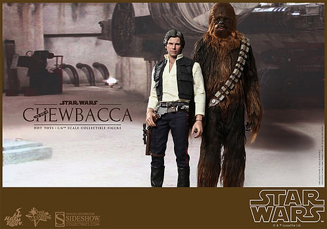 HOT TOYS STAR WARS A NEW HOPE HAN SOLO AND CHEWBACCA
