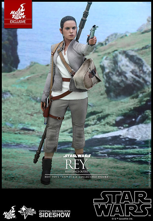 HOT TOYS STAR WARS THE FORCE AWAKENS RESISTANCE REY EXCLUSIVE