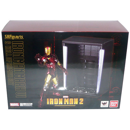 SH FIGUARTS MARVEL IRON MAN 2 MARK 6 WITH HALL OF ARMOR