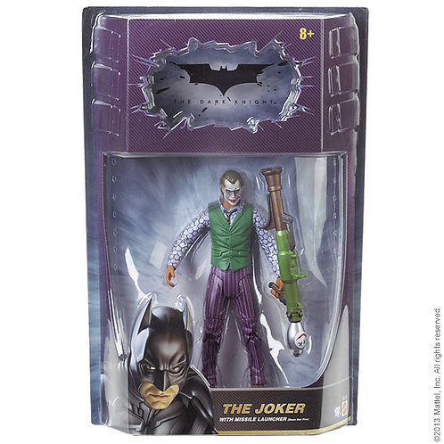 MATTEL DC BATMAN DARK KNIGHT MOVIE MASTERS JOKER WITH MISSILE LAUNCHER