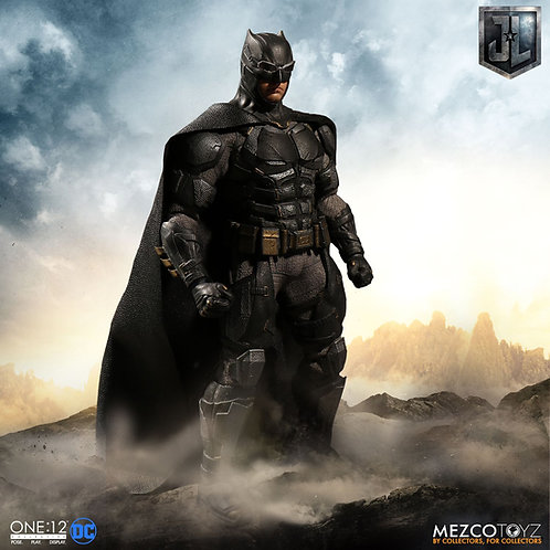 MEZCO TOYZ ONE:12 DC JUSTICE LEAGUE MOVIE TACTICAL SUIT BATMAN