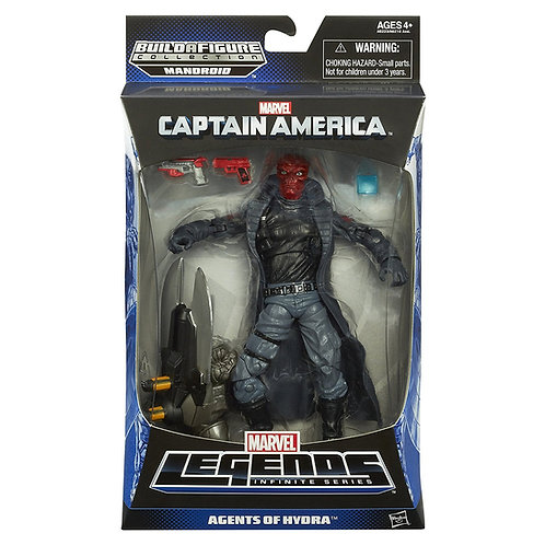 MARVEL LEGENDS CAPTAIN AMERICA MANDROID SERIES RED SKULL