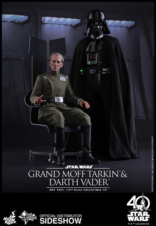 HOT TOYS STAR WARS A NEW HOPE GRAND MOFF TARKIN AND DARTH VADER SET