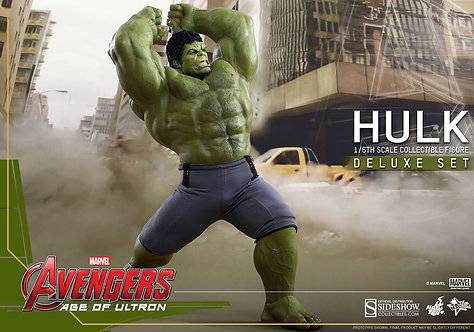 HOT TOYS AVENGERS 2 AGE OF ULTRON HULK DELUXE W EXTRA LOWER TORSO