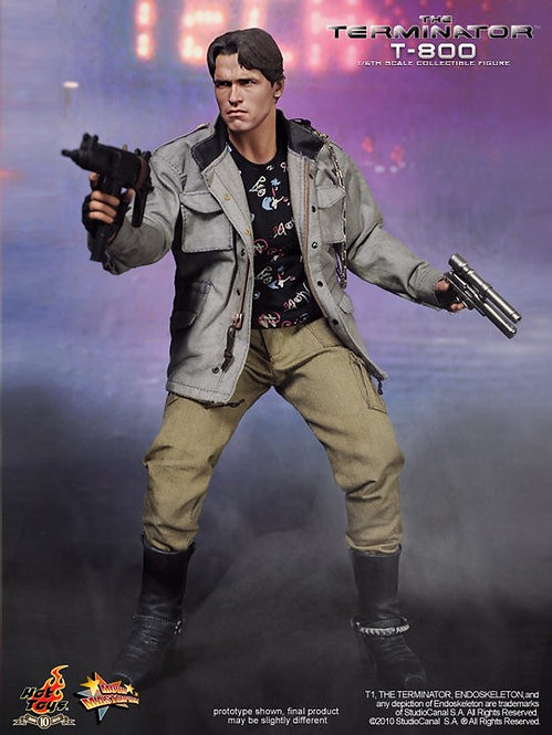 HOT TOYS THE TERMINATOR T-800 T1 TERMINATOR TECH NOIR