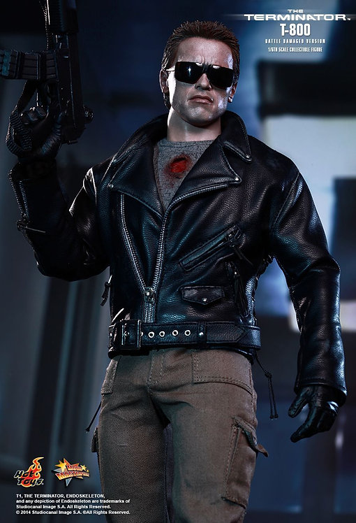 HOT TOYS THE TERMINATOR T-800 BATTLE DAMAGED