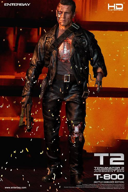 ENTERBAY TERMINATOR 2 T-800 BATTLE DAMAGED 1/4 SCALE ACTION FIGURE
