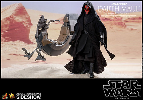 HOT TOYS DX17 STAR WARS THE PHANTOM MENACE DARTH MAUL WITH SITH SPEEDER