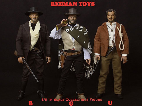 REDMAN TOYS THE GOOD, THE BAD AND THE UGLY COMPLETE SET OF 3