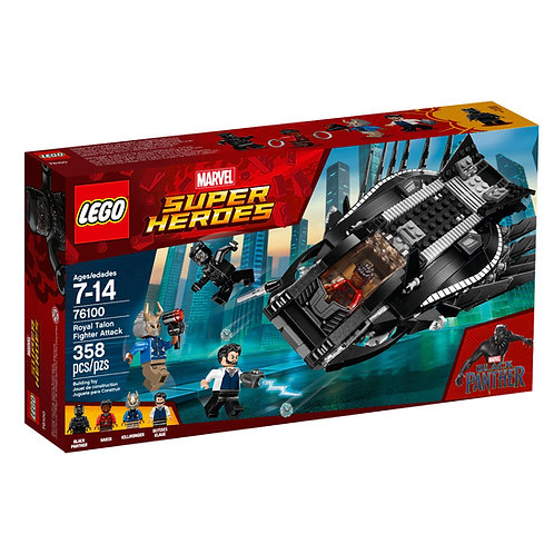 LEGO 76100 MARVEL SUPER HEROES BLACK PANTHER MOVIE ROYAL TALON FIGHTER ATTACK